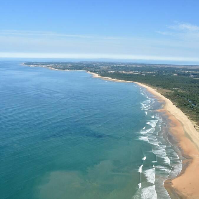 Vue aérienne de l'île d'Oléron © FDHPA 17